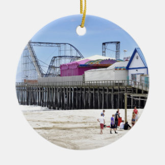 The Jersey Shore at Seaside Heights Ceramic Ornament