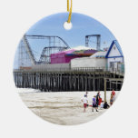 The Jersey Shore at Seaside Heights Double-Sided Ceramic Round Christmas Ornament