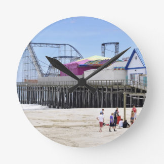 The Jersey Shore at Seaside Heights Round Clock
