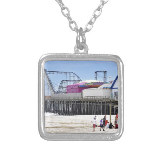 The Jersey Shore at Seaside Heights Square Pendant Necklace