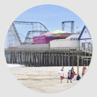 The Jersey Shore at Seaside Heights Round Stickers