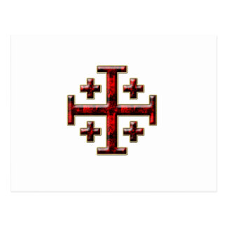 The Jerusalem Cross - Clear Back Postcard
