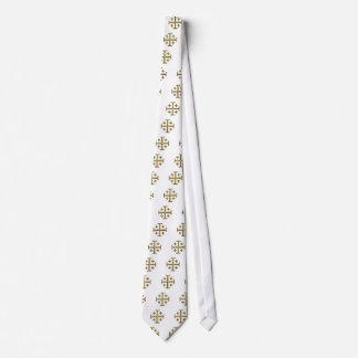 The Jerusalem Cross - Gold Beveled Edition Tie