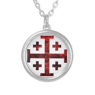 The Jerusalem Cross Round Pendant Necklace