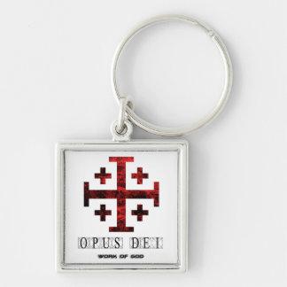 The Jerusalem Cross - Opus Dei - Work Of God Keychain