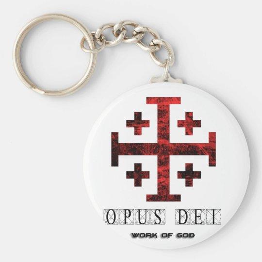 The Jerusalem Cross Opus Dei Work Of God Keychain Zazzle