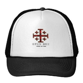 The Jerusalem Cross - ver 1 - Opus Dei - Clear Trucker Hat