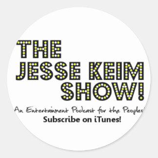 The Jesse Keim Show Stickers! Classic Round Sticker