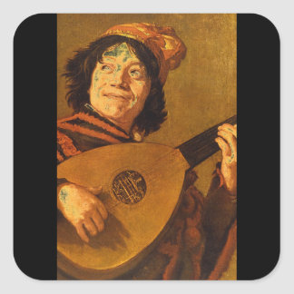 <The Jester', Judith Leyster_Portraits Square Sticker