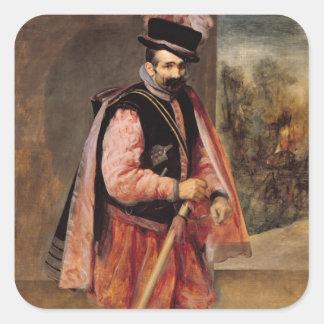 The Jester named 'Don Juan of Austria', c.1632/35 Square Sticker