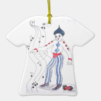 The Jester Speaks Double-Sided T-Shirt Ceramic Christmas Ornament