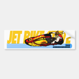 The Jet Bike Steve Thor bumper sticker! Car Bumper Sticker