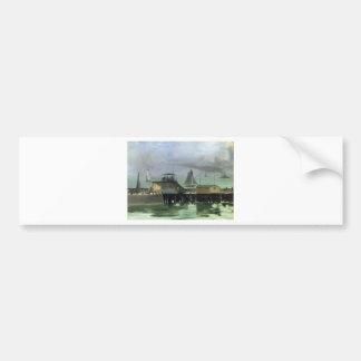 The Jetty at Boulogne by Edouard Manet Bumper Sticker