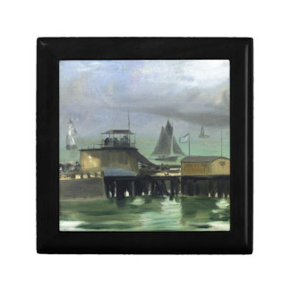 The Jetty at Boulogne by Edouard Manet Jewelry Box