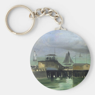 The Jetty at Boulogne by Edouard Manet Keychain