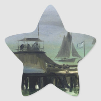 The Jetty at Boulogne by Edouard Manet Star Sticker