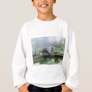 The Jetty at Boulogne by Edouard Manet Sweatshirt