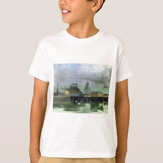 The Jetty at Boulogne by Edouard Manet T-Shirt