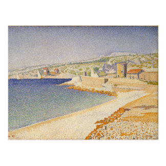 The Jetty at Cassis Opus 198 - Paul Signac Postcards