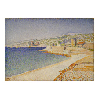 The Jetty at Cassis, Opus 198 - Paul Signac Poster