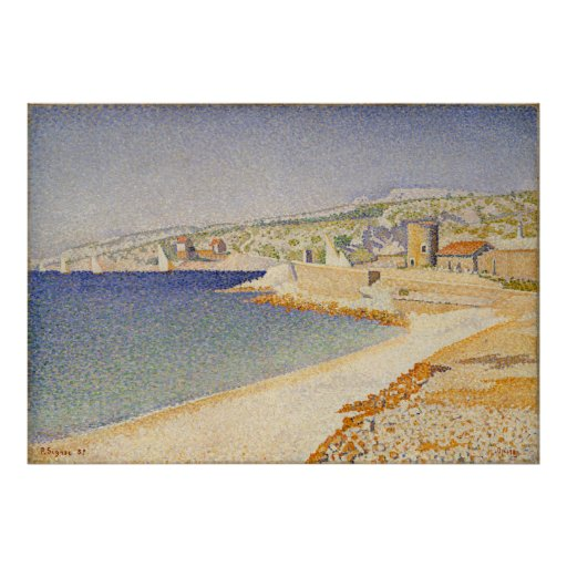 The Jetty at Cassis, Opus 198 - Paul Signac Print