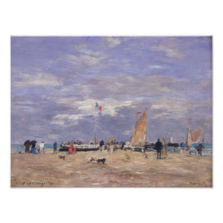 The Jetty at Deauville, 1869 Poster
