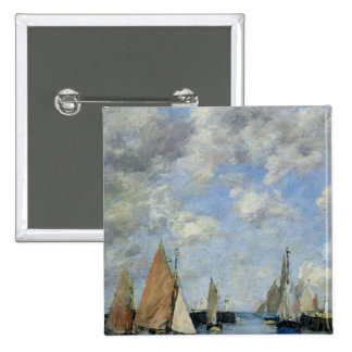 The Jetty at High Tide, Trouville 2 Inch Square Button