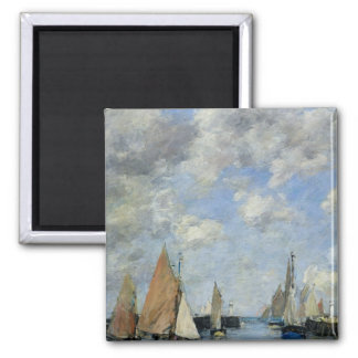 The Jetty at High Tide, Trouville Fridge Magnet