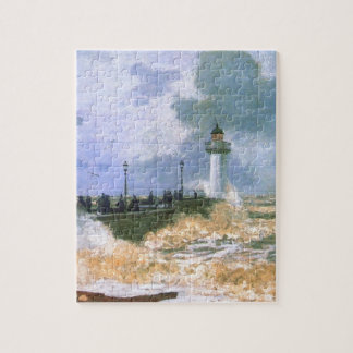 The Jetty at Le Havre by Claude Monet Jigsaw Puzzle