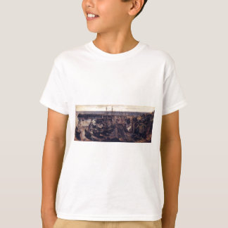 The Jetty at the Port of Granville by Theodore ... T-Shirt
