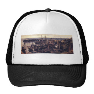 The Jetty at the Port of Granville by Theodore ... Trucker Hat