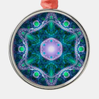 The Jewel in the Lotus Metal Ornament