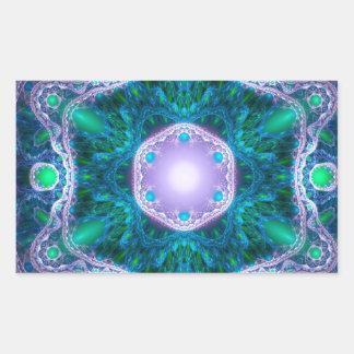 The Jewel in the Lotus Rectangular Sticker