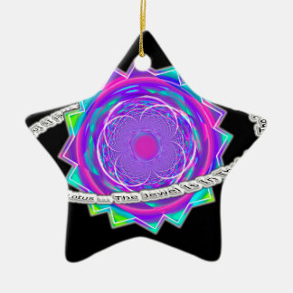 the jewel is in the lotus - Ring of Saturn and Flo Ceramic Ornament