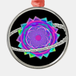 the jewel is in the lotus - Ring of Saturn and Flo Metal Ornament