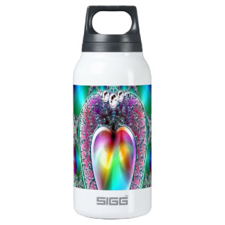 THE JEWELED HEART CRYSTAL PRISM ARA ART 10 OZ INSULATED SIGG THERMOS WATER BOTTLE
