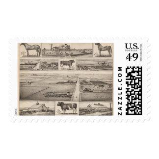 The Jewett Farm, Cheney, Kansas Stamp