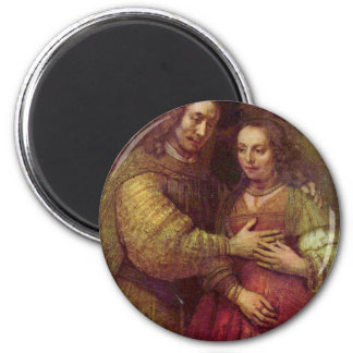 The Jewish Bride (The Couple) Detail By Rembrandt Refrigerator Magnet