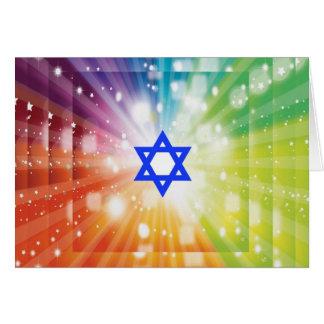 The Jewish burst of lights Card