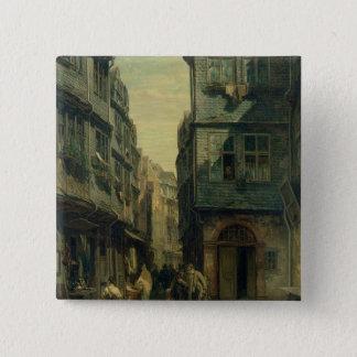 The Jewish Quarter in Frankfurt, 1883 Pinback Button