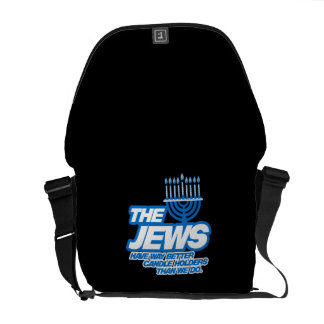 THE JEWS HAVE WAY BETTER CANDLE HOLDERS MESSENGER BAG