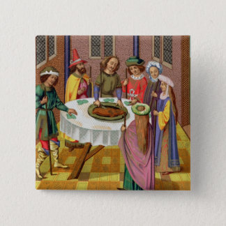 The Jews' Passover, facsimile of a 15th century mi Pinback Button