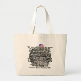 The JFK Quote That Sent Humans to the Moon Canvas Bags