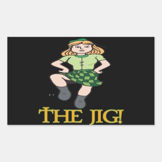 The Jig Rectangular Sticker