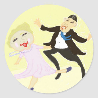The Jitterbug Couple Classic Round Sticker