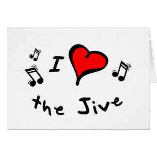 the Jive I Heart-Love Gift Greeting Card