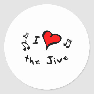 the Jive I Heart-Love Gift Classic Round Sticker