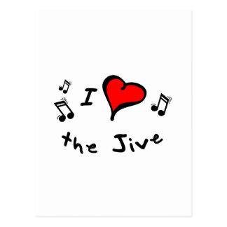 the Jive I Heart-Love Gift Postcard