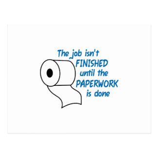 THE JOB ISNT FINISHED POSTCARD