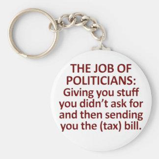 The job of politicians key chain